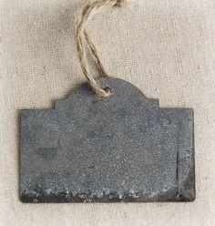 Escort cards? Zinc Chalkboard Tags w/Twine (Pack of 20)