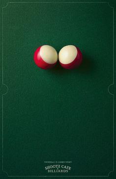 Ladies Night Shootz Café & Billiards Ad by Blattner Brunner