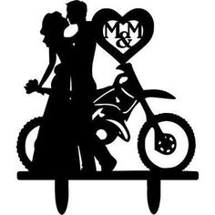 dirt bike wedding cake topper - Google Search