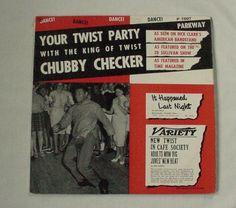 VINTAGE CHUBBY CHECKER 'TWIST PARTY' DANCE ALBUM RECORD LP DANCE RECORD 1962