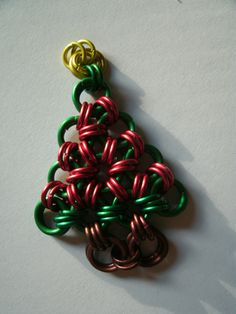 Chainmail Christmas Tree Ornament. $5.00, via Etsy.