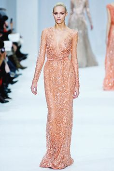 Elie Saab - the individual beads are huge, it makes such a beautiful effect