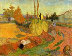 Landscape at Arles (1888)  Paul Gauguin