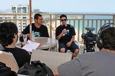 Fábio Cristiano e Luan Oliveira na entrevista  (crédito: Júlio Tio Verde)