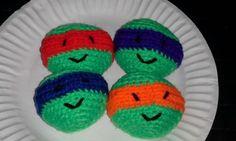 Handmade Crocheted Hacky Sacks TMNT 4pack | eBay