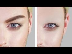 HOW TO COVER EYEBROWS - DRAG OR THEATRICAL MAKEUP | Joseph Harwood - YouTube