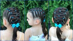 Hair Designs For Girls Hairstyles Easy Toddler Hairstyles, Baby Girl Hairstyles, Baddie Hairstyles, Cool Hairstyles, Hair Designs For Girls, Cool Hair Designs, Little Girl Braids, Girls Braids, Soccer Hair