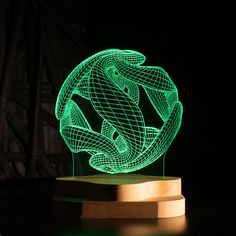 This LED Illusion Crystal Ball Lamp resides somewhere between work of art and functional lighting fixture. Made from custom-engraved acrylic and a solid pine base, bo. Light Installation, Art Installations, Acrylic Art, Light Art, Crystal Ball, Box Art, Innovation Design, Mind Blown, Laser Engraving