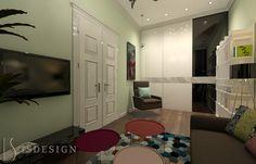 Гостевая комната - Современность и классика переплелись на Королевских Виноградах в Праге. Дизайн проекта интерьера, квартира 3+kk, Прага, улица Šumavská. Архитектор - дизайнер Инна Войтенко.