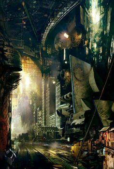 sci fi city / cyberpunk / architecture