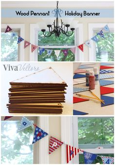 DIY wooden banner for the holidays.  Great craft to do with the kids.  Plus, you can paint both sides for different holidays!