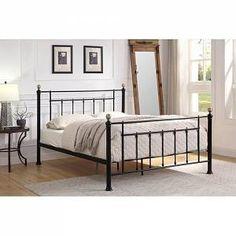 Bed Frame Sizes, King Size Bed Frame, Black Metal Bed Frame, Bed Frame With Mattress, Brass Bed, Brass Metal, Vintage Inspiriert, Bed Slats, Buy Bed