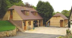 garages built in a bank | ... and construction of two oak framed buildings one a two bay garage