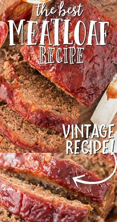 This a classic ground beef meatloaf is the type of recipe you'll want to make again and again. It's easy to make, incredibly tender and holds its shape as a loaf. It's sauce -- made with traditional ingredients like ketchup, brown sugar, and Worcestershire sauce -- is Ioaded with flavor. Classic Meatloaf Recipe, Good Meatloaf Recipe, Meat Loaf Recipe Easy, Best Meatloaf, Meatloaf Recipes, Beef Recipes, Cooking Recipes, Recipe Box, Pastries