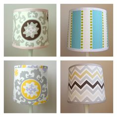 Custom Nursery Lamp shade - cover w/ fabric and use bias tape to finish the ends?