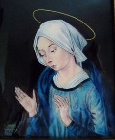 Hey, I found this really awesome Etsy listing at https://www.etsy.com/listing/275052216/virgin-mary-enamel-by-arlette-adam
