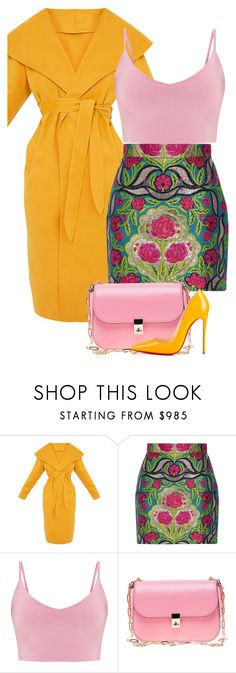 """""""Do"""" by catmlnguyen ❤ liked on Polyvore featuring Gucci, Valentino and Christian Louboutin"""