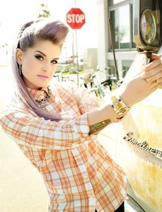 Living Out Loud with Kelly Osbourne - Fashion Daily Mag | Love the flannel and rhinestones combo