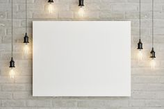 This is a painting mockup to showcase your artwork on a white brick wall between hanging bulbs. The template looks very realistic, just change the image and add your own graphics with the included Smart Object layer. Phone Wallpaper Images, Framed Wallpaper, Flower Background Wallpaper, Flower Backgrounds, Powerpoint Background Design, Poster Background Design, Photo Frame Design, White Brick Walls, Instagram Frame