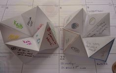 Cootie Catcher with character and quote