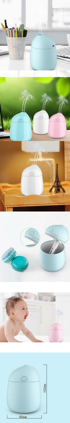 3 Colors Elegant Mini USB Air Purifier Humidifier for Bedroom Car Office for Car Charger Living Room  T0