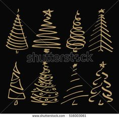 Vector set with christmas tree. Doodles and sketches. Stock-Vektorgrafik (Lizenzfrei) 516003061 Vector set with christmas tree doodles and sketches stock vector (royalty free) 516003061 - Christmas Doodles, Christmas Drawing, Diy Christmas Cards, Christmas Nails, Christmas Time, Christmas Decorations, Christmas Ornaments, Christmas Tree Sketch, How To Draw Christmas Tree