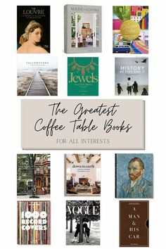 A round-up of over 50 beautiful coffee table books filled with inspiration from art, travel, design, music, history, fashion, and more.