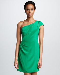 T58EB Shoshanna Marilyn One-Shoulder Dress