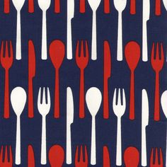 Home / Fabric Designers / Hoodie / Catch of The Day / Cutlery in Navy