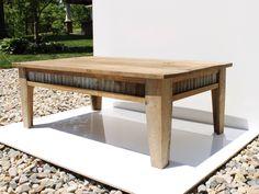 Rustic Coffee Table - Reclaimed Barn Wood w/Barn Tin by Keeriah on Etsy https://www.etsy.com/listing/191388031/rustic-coffee-table-reclaimed-barn-wood
