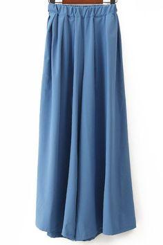 $11.00 Simple Design Women's Solid Color Wide-Leg Pants