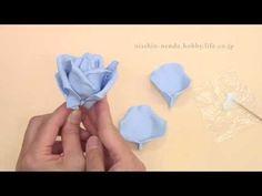 軽量粘土で作る バラの作り方1-3-2 (花の作り方) 後編 - YouTube