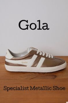 f90160240089   jb and me   GOLA SPECIALIST METALLIC SHOE This metallic shoe by Gola is  styled
