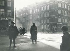 February 1941. Raid by the Grüne Polizei on the Koco ice cream parlour on the Van Woustraat in Amsterdam. The premises are defended by a group of Jewish and non-Jewish residents from the area and a violent brawl breaks out. #amsterdam  #worldwar2