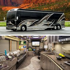 A Prevost Bus conversion is the ultimate luxury motorhome. Marathon is the leader in luxury bus conversions, service and technology. Prevost Coach, Prevost Bus, Luxury Mobile Homes, Luxury Homes Dream Houses, Jeep Wrangler, Trailers, Luxury Rv Living, Cocoppa Wallpaper, Marathon Coach