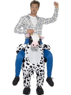 Buy Adult Big Ride Farmer Piggyback Cow Bull Fancy Dress Costume Suit with Mock Legs at online store