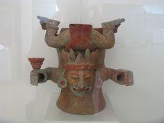 Курильница. Ниспадающий бог. Тулум. 1200-1550 гг.