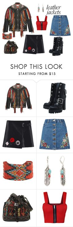 """Exotic biker"" by mmformals ❤ liked on Polyvore featuring Gucci, Alexander McQueen, Miss Selfridge, Bandana and WearAll"