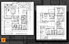 Thiết kế biệt thự tân cổ điển Floor Plans, Diagram, Floor Plan Drawing, House Floor Plans