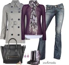 Purple and grey -