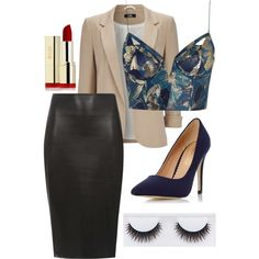 A fashion look from August 2015 featuring Zimmermann tops, Wallis blazers and Dorothy Perkins skirts. Browse and shop related looks.