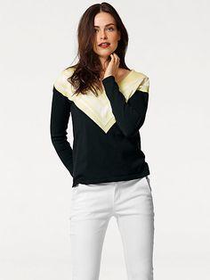 Pull-over en tricot fin avec encolure en V #Vcommevictoire