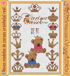 Trago para quem ainda não viu (coisa que duvido rsrsrs) os ursinhos da realeza by Carina Cassol:                             para quem quis...