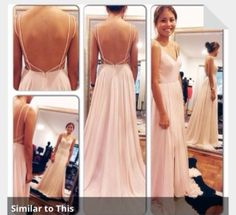 dress pink dress prom dress long prom dresses backless prom dresses pale pink simple