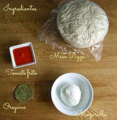 Siguiendo a Nenalinda: Pizza de Mozzarella en Microondas { paso a paso }...