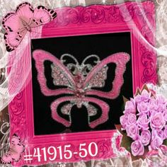 Pink Sparkle Rhinestone Crystal Alloy Charm  Butterfly Pin & Brooch #41915-50