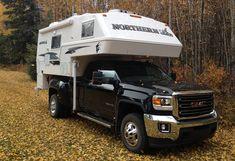 GMC 3500 and Northern Lite 10-2EX truck camper. http://www.truckcampermagazine.com/newbie-articles/picking-the-perfect-truck-camper/