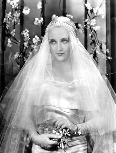 1930's Inspired Bridal Hair and Makeup Carole-Lombard---1930s-wedding
