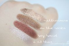 ColourPop Eyeshadows I Love This, Boy Band, On The Rocks