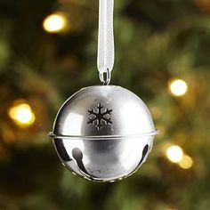 Jingle Bell Ornament - Silver from Pier 1 Imports